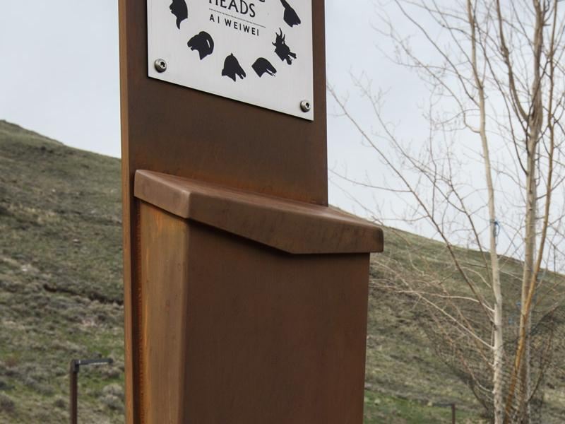 Pamphlet Stand, Jackson, WY