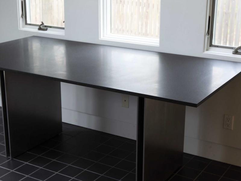 Stainless Steel and Granite Table