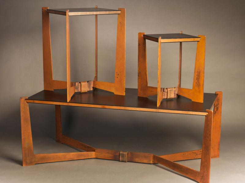 Equipoise Steel Bamboo Tables