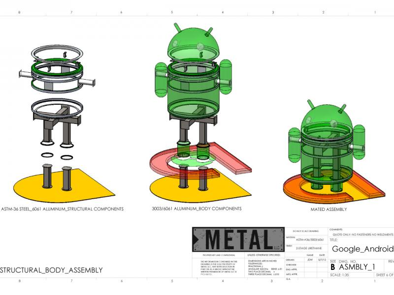 Google Android Sculpture