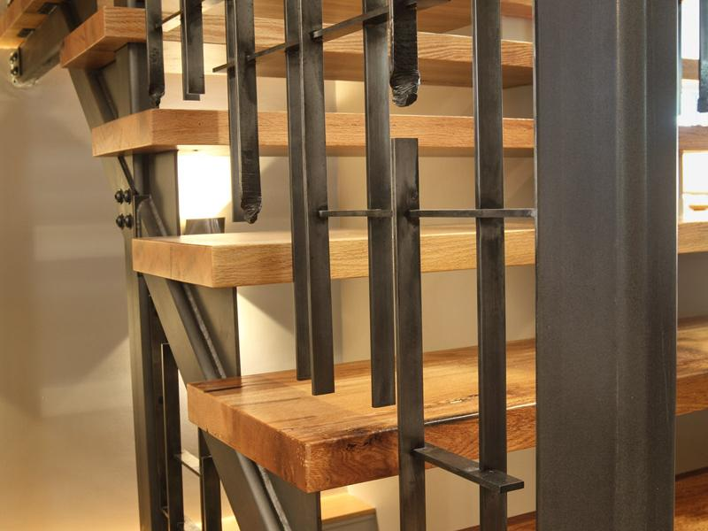 Moire Drip Forged Staircase