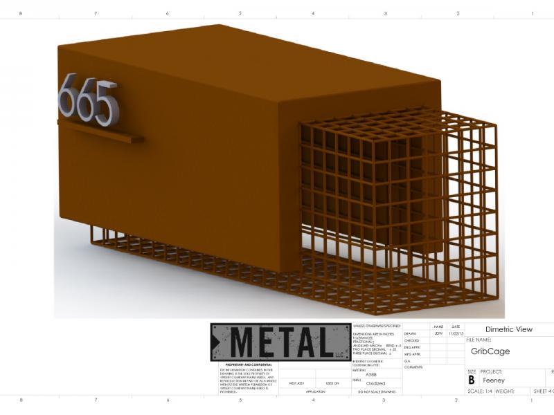 Mini Corten Gabion Cage