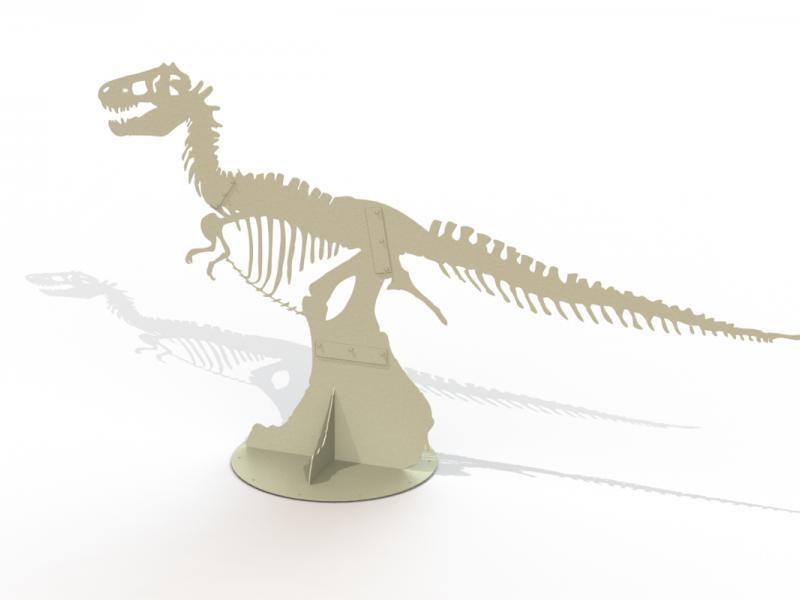 Steel T-Rex Sculpture