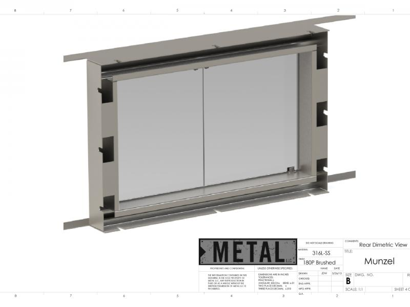 Stainless Fireplace Insert
