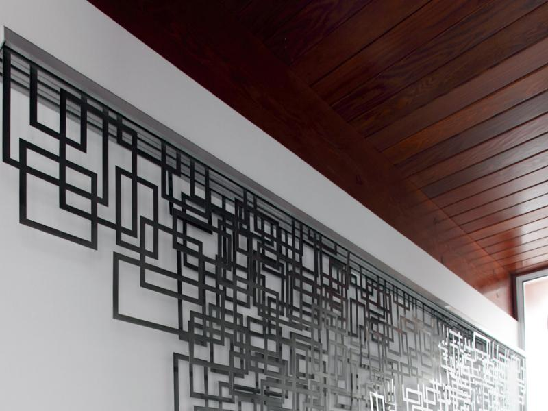 Steel Tapestry Stair Accent