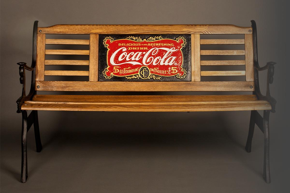 Restored 1904 Coca-Cola Bench