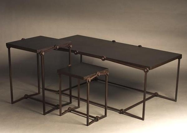 Rollerchain Steel Bamboo Eco-Friendly Table