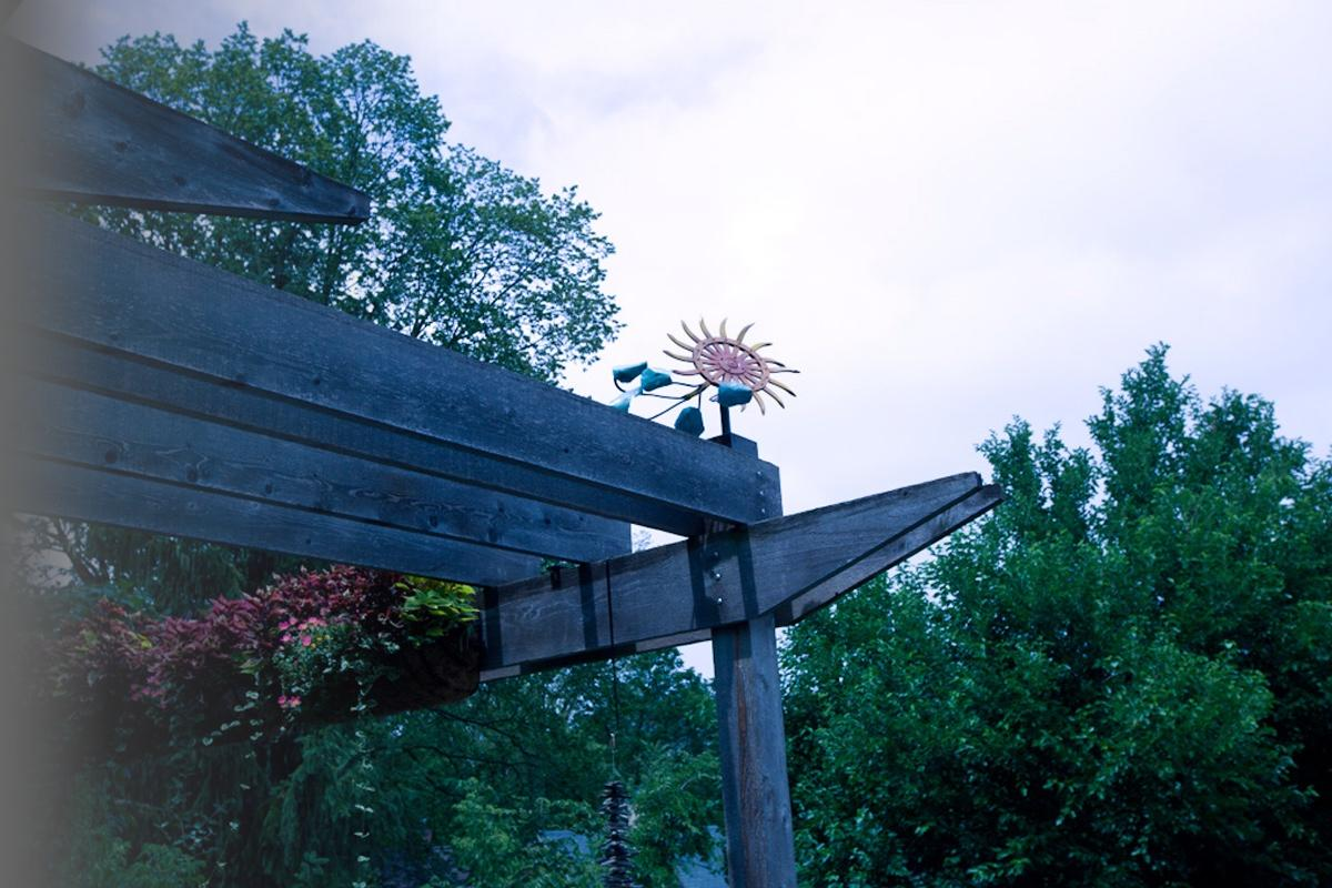 Repurposed Agricultural Components Weathervane