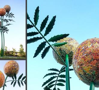 METAL-sculpture-outdoor-plant