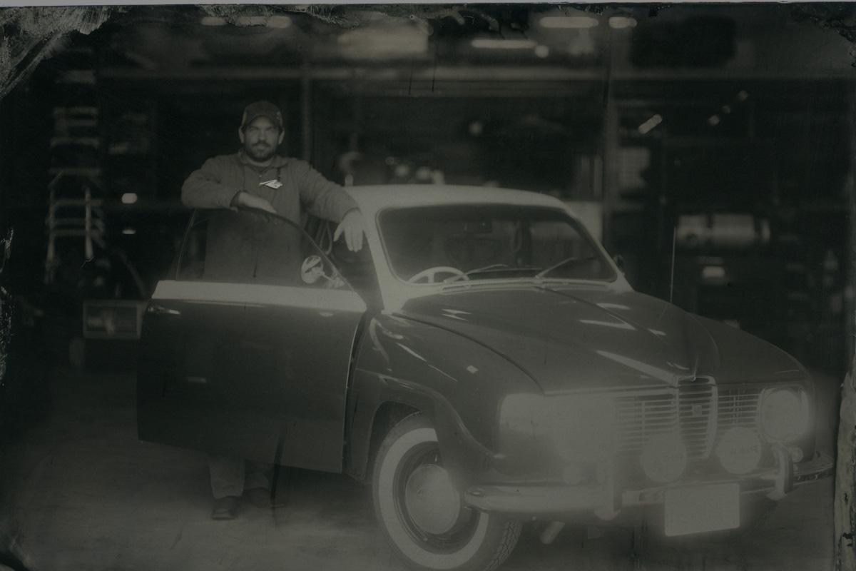 John Walters with Saab Tintype